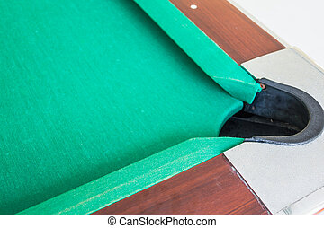 Corrner of table snooker hole . - Corrner of table snooker...