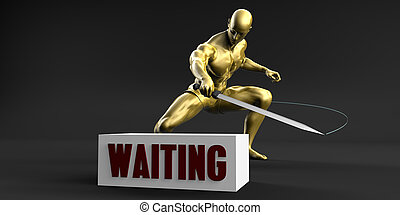 Reduce Waiting and Minimize Business Concept