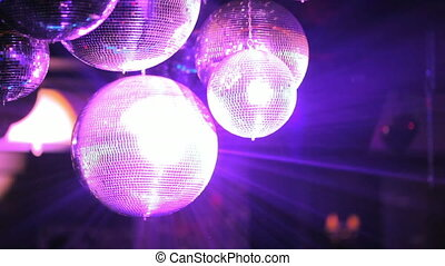 club, colored light flashing at the disco