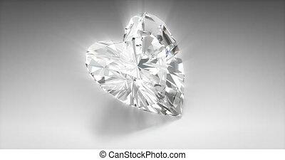 Heart Cut Diamond - Heart cut diamond on gray background...