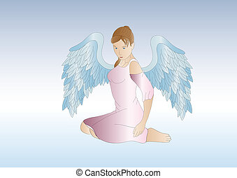 female guardian angel - beautiful female angel