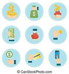 set of global payment icons