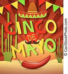 Cinco De Mayo - Poster or party flyer of Cinco De Mayo...