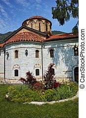 Kolostor, kilátás,  bachkovo, középkori, körképszerű