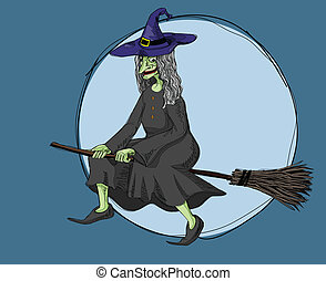 witch at night