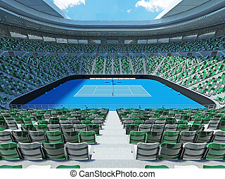 3D render of beutiful modern tennis grand slam lookalike...