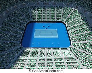 3D render of beutiful modern tennis grand slam lookalike...