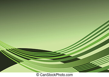 Wave pattern background - Vector - Wave pattern in lime...
