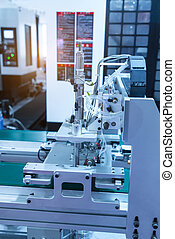 industrial machine and factory robot arm,Smart factory...