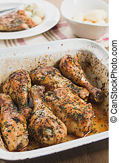 home cooked oven roasted chicken drumsticks