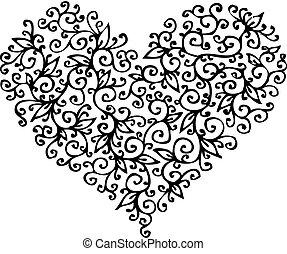 Romantic Heart vignette CC - Romantic floral refined...