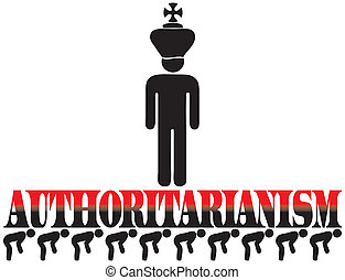 Poster for authoritarianism - The word authoritarianism lies...