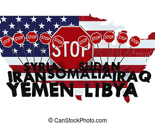 USA barred citizens of seven Muslim-majority countries from...