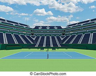 3D render of beutiful modern tennis masters 1000 lookalike...
