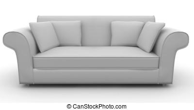 3D, muebles, detallado