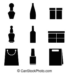 Packaging icons on white background