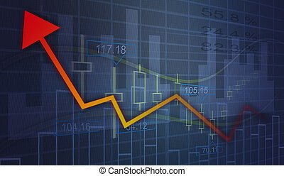 Financial and business graphs
