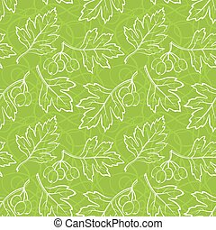 Hawthorn Leaves, Seamless - Seamless Background with...