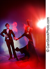 beautiful vigorous dancers - Art concept. Beautiful vigorous...