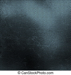 Perforated metal background - Grunge perforated metal...
