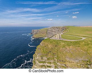 Aerial Ireland countryside tourist attraction in County...