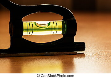Measuring tools - Tube with a liquid and with a bubble to...