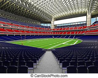 3D render of modern American football super bowl lookalike...