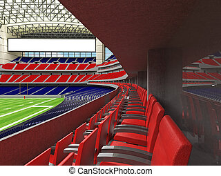 3D render of modern American football super bowl lookalike...