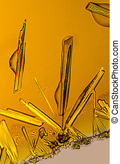 ferric chloride crystals - microscopic shot if some Iron...