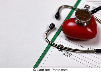 prescription recipe cardiologist stethoscope