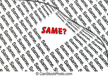 Concept of Same or Different - Concept or Metaphor of...