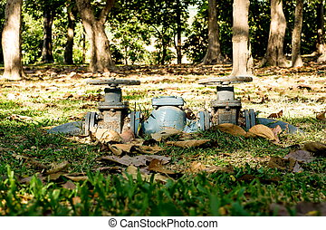 water pipe - Closed up water pipe in the public park