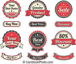 Vintage Shopping Stickers