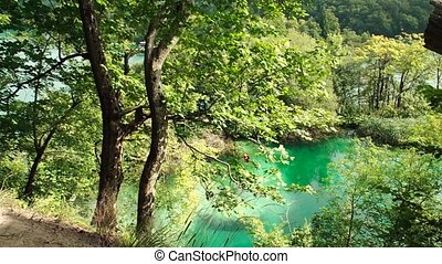 Lake in Plitvice National Park, Croatia