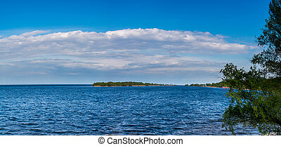 View of the Dnieper River in Cherkasy - views of the Dnieper...