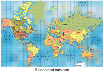 World Map EPS 8 vector file incl