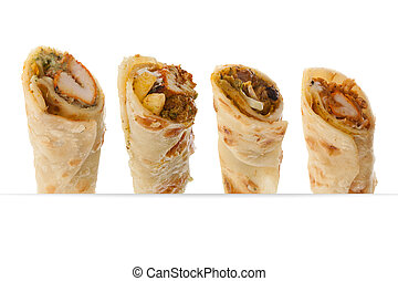 Paratha rolls of different flavours