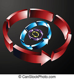 Dashed Circular Arrow Line - An image of dashed circular...