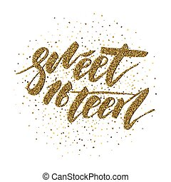Sweet Sixteen - lettering design for posters, flyers,...