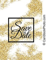 Abstract gold glitter template for birthday party, wedding...