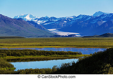 Denali highway - Landscapes on Denali highway, Alaska.