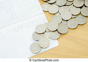 The passbook and coins