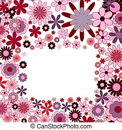 Flower background with frame