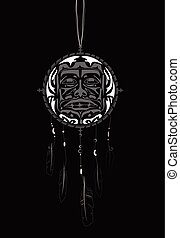 Dream Catcher with indigenous pattern - Dream Catcher with...
