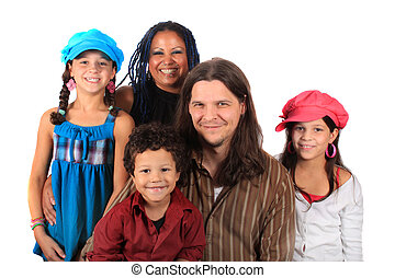 Young ethnic family - Young attractive ethnic family with...