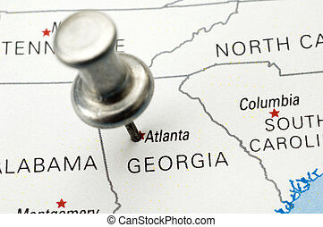 Push Pin Over Georgia