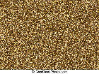 Golden glitter texture consisting of small stars.