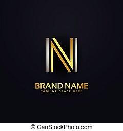 creative letter N logo design template