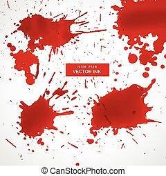 ink splatter collection vector