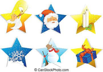 Christmas icon set isolated on white background